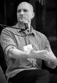 China Miéville at the Key West Literary Seminar.