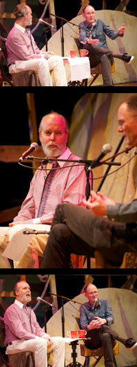 Douglas Coupland and William Gibson at the Key West Literary Seminar.