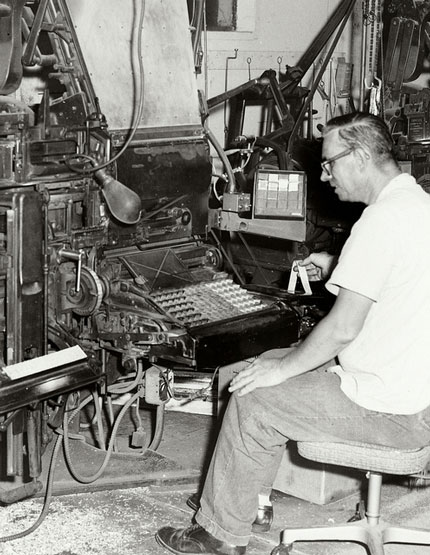 Linotype worker, Key West Citizen.