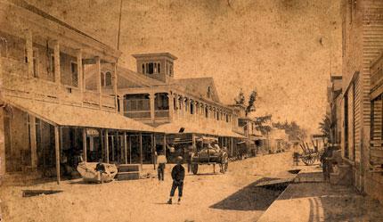 Key West 1880s street scene