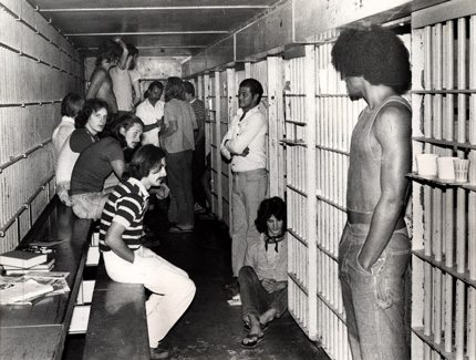 The inside of the cell of the Monroe County Jail on Whitehead Street C 1970. Monroe County Library Collection.