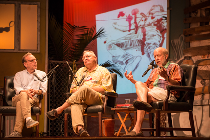 Jonathan Santlofer, Les Standiford, and James W. Hall dissolve the barriers between crime fiction and the literary canon. Photo by Nick Doll.