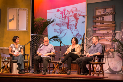 Tess Gerritsen, Michael Connelly, Alafair Burke, and Michael Koryta. Photo by Nick Doll.