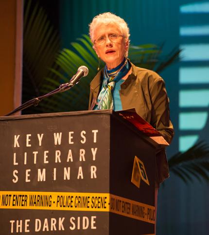 Sara Paretsky on opening night of the 2014 Key West Literary Seminar. Photo by Nick Doll.