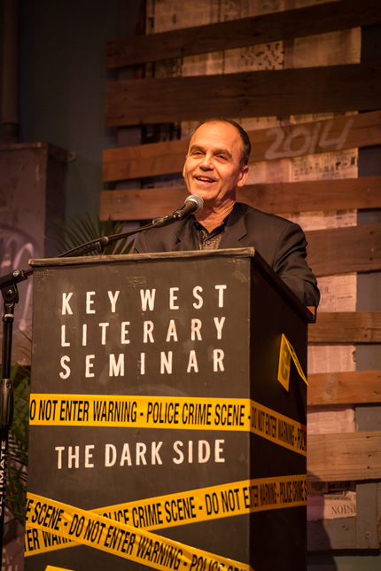 "Scott Turow: ""Writers write. They don't sit in barrooms with other writers, they don't talk about what they're going to write. They write."" Photo by Nick Doll."