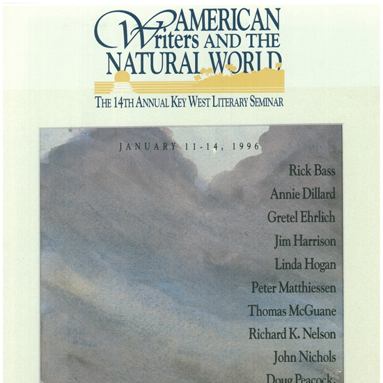 1996-American Writers and the Natural World