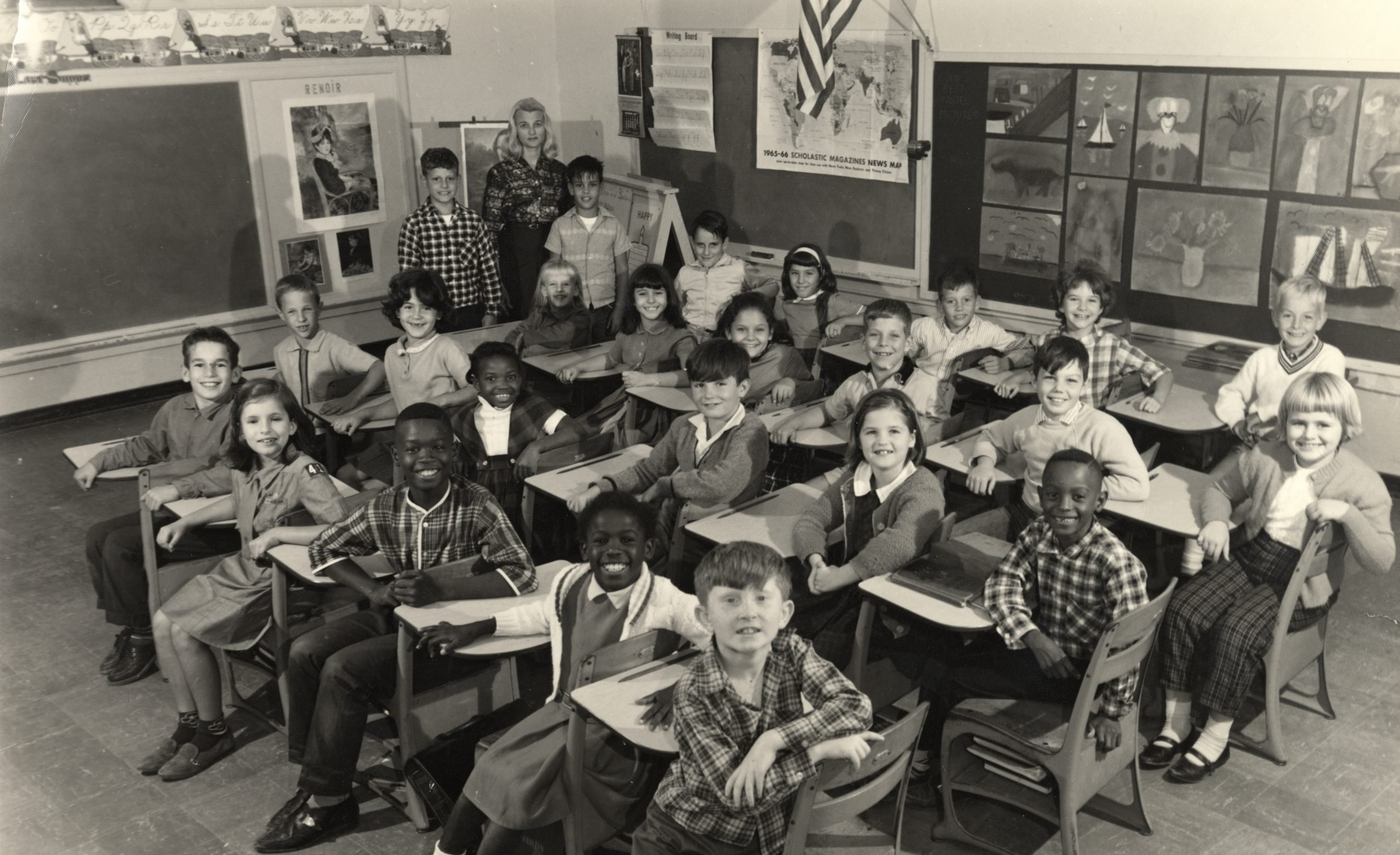 Photo courtesy Florida Keys Public Libraries: Betty Suarez's third grade class, Reynolds Elementary School, 1965-66. Gift Lisa Suarez.